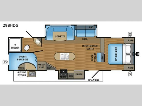 Jay Flight 29BHDS Floorplan Image