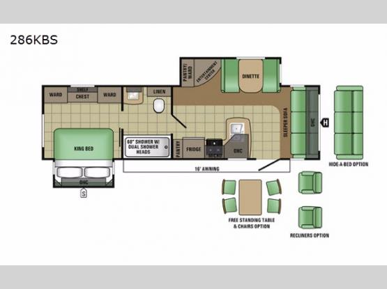Autumn Ridge 286KBS Floorplan Image