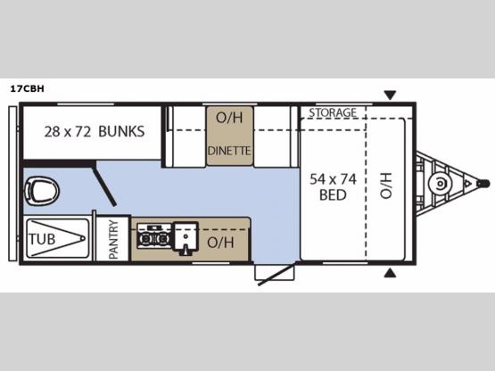 Clipper Cadet 17CBH Floorplan Image