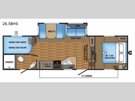 Eagle HT 26.5BHS Floorplan Image
