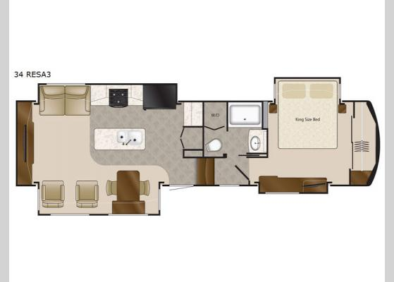 Floorplan - 2017 Elite Suites 34 RESA3 Fifth Wheel
