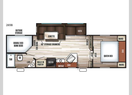 Floorplan - 2017 Cherokee 265B Fifth Wheel