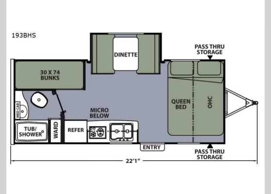 Floorplan - 2018 Apex Nano 193BHS Travel Trailer