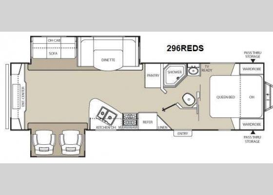 Floorplan - 2014 Freedom Express 296REDS Travel Trailer