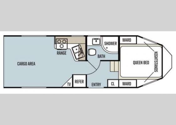 Floorplan - 2014 Work and Play Ultra Lite 27UL Toy Hauler Fifth Wheel