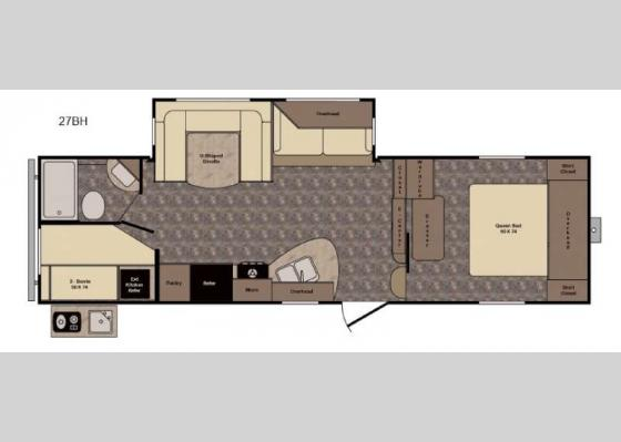 Floorplan - 2017 Longhorn ReZerve LFZ27BH Fifth Wheel