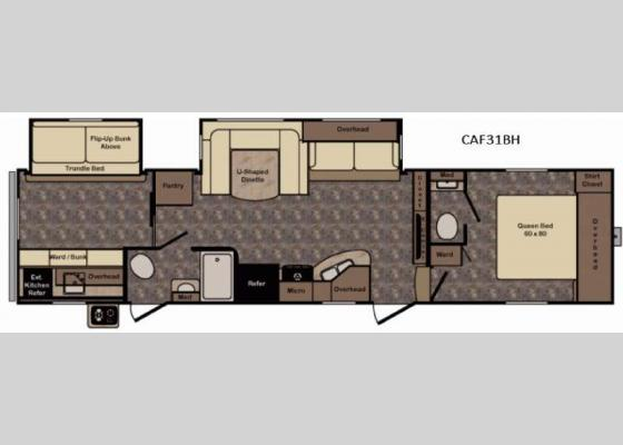 Floorplan - 2017 Cruiser Aire CAF31BH Fifth Wheel