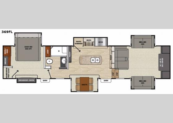 Floorplan - 2017 Brookstone 369FL Fifth Wheel
