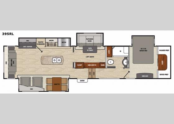 Floorplan - 2017 Brookstone 395RL Fifth Wheel