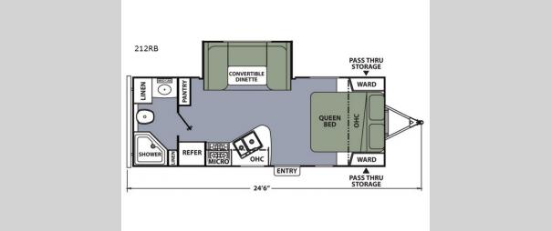 Apex Ultra-Lite 212RB Floorplan