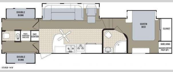 Monte Vista 35RB-MV Floorplan