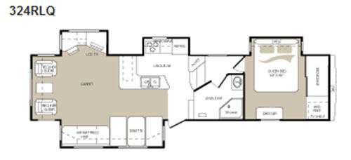 Mountaineer 324RLQ Floorplan