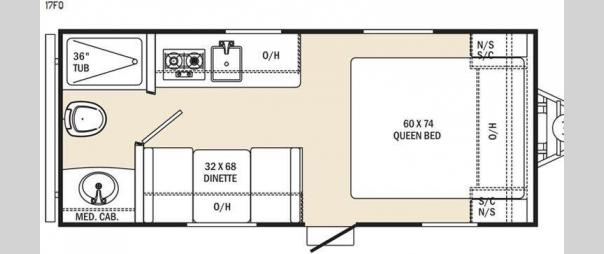 Clipper 17FQ Floorplan