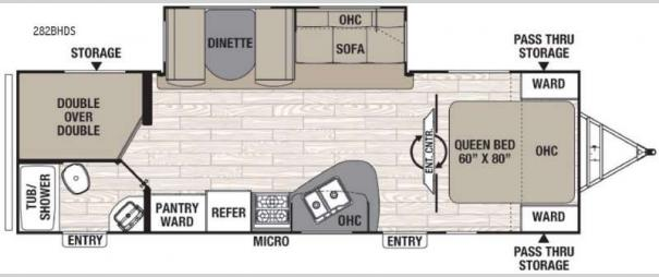 Freedom Express 282BHDS Floorplan