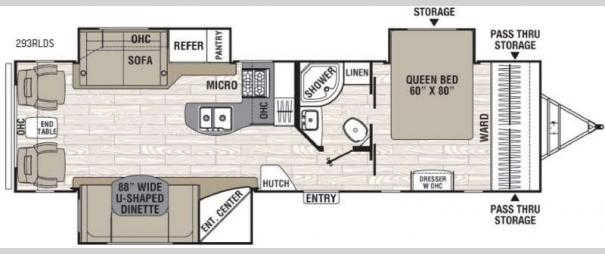 Freedom Express Liberty Edition 293RLDS Floorplan