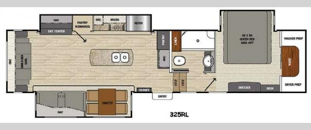 Brookstone 325RL Floorplan