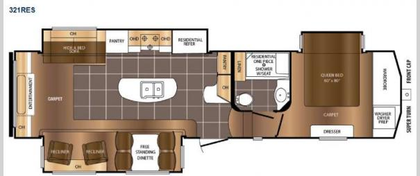 Crusader 321RES Floorplan