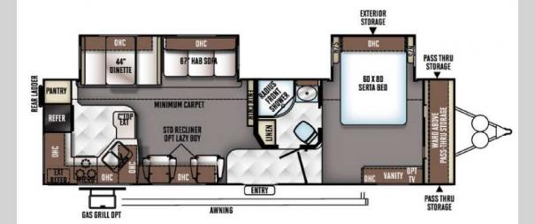 Rockwood Signature Ultra Lite 8310SS Floorplan