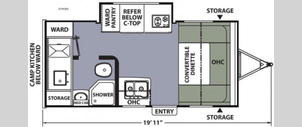 Apex Nano 172CKS Floorplan