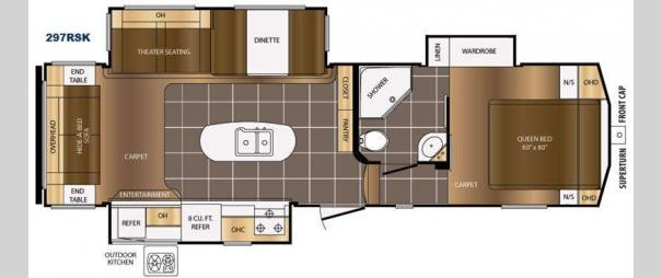 Crusader 297RSK Floorplan