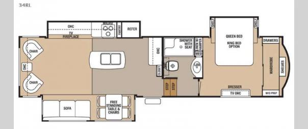 Cedar Creek Hathaway Edition 34RL Floorplan