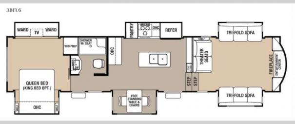 Cedar Creek Hathaway Edition 38FL6 Floorplan