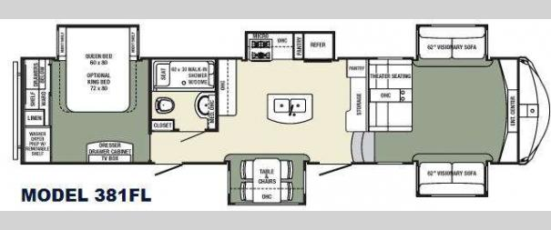 Columbus F381FL Floorplan