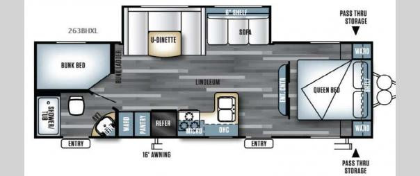 Salem Cruise Lite 263BHXL Floorplan