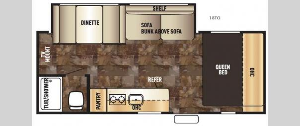 Cherokee Wolf Pup 18TO Floorplan
