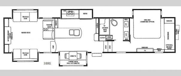 RiverStone 38RE Floorplan