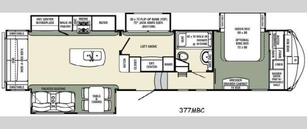 Columbus Compass 377MBC Floorplan