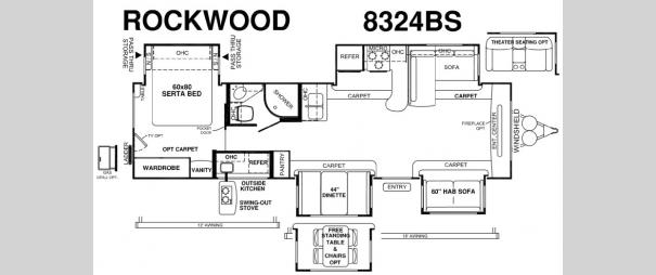 Rockwood Signature Ultra Lite 8324BS Floorplan