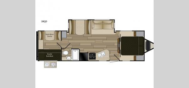 Fun Finder XTREME LITE 28QD Floorplan