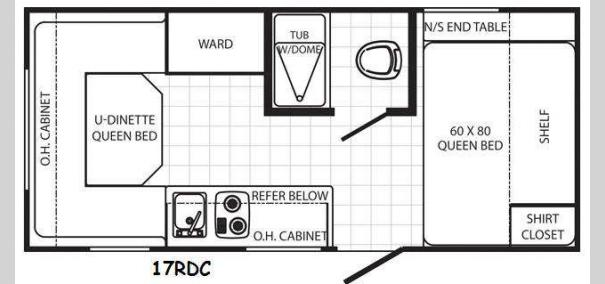 Canyon Cat 17RDC Floorplan