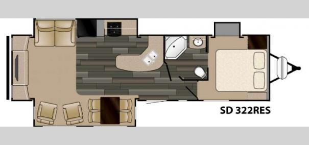Sundance 322RES Floorplan