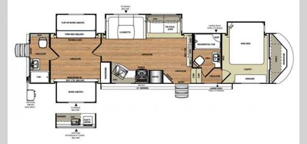 Wildwood Heritage Glen 356QB Floorplan