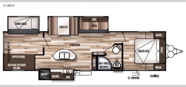 Wildwood 31BKIS Floorplan