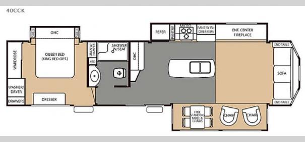 Cedar Creek Cottage 40CCK Floorplan