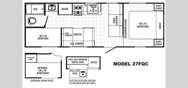 Canyon Cat 27FQC Floorplan