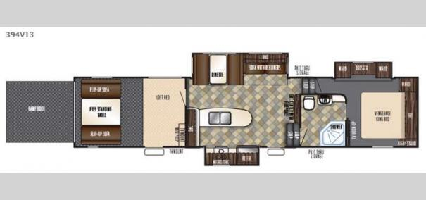Vengeance 394V13 Floorplan
