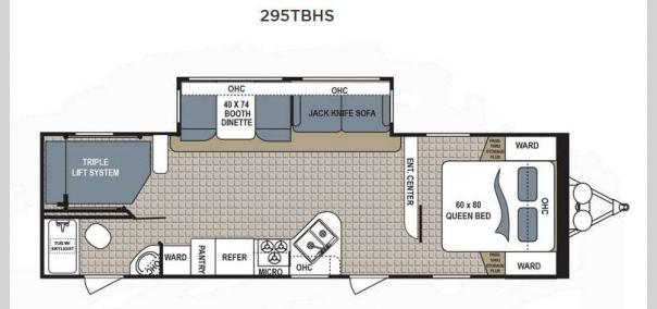 Kodiak Ultimate 295TBHS Floorplan