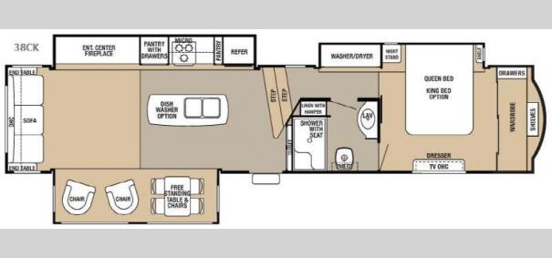Cedar Creek Hathaway Edition 38CK Floorplan