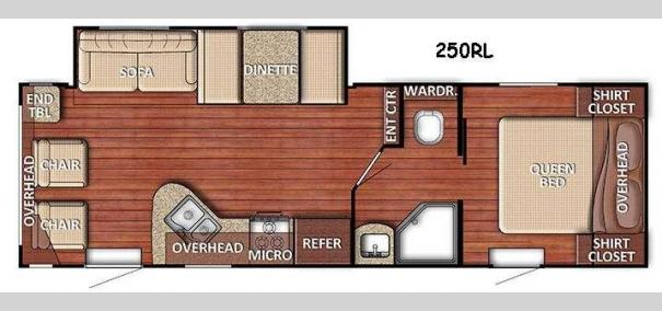 Kingsport Lite 250RL Floorplan