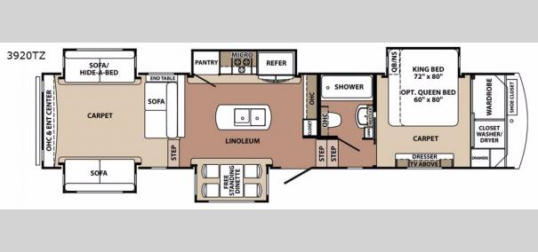 Blue Ridge 3920TZ Floorplan