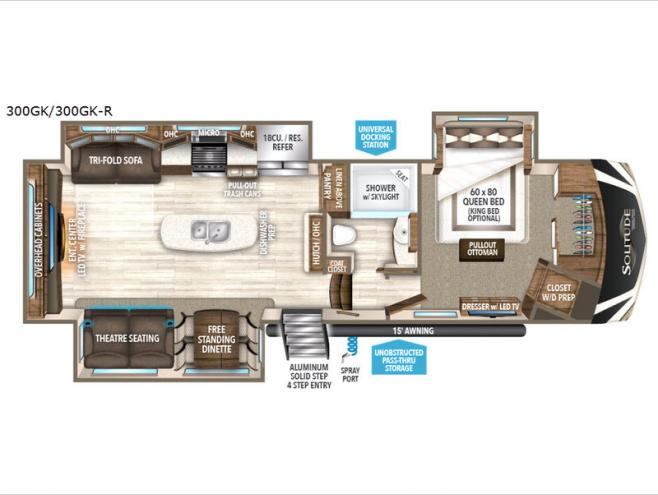 Floorplan - 2017 Grand Design Solitude 300GK