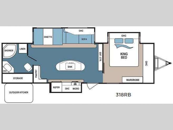 Floorplan - 2017 Dutchmen RV Denali 318RB
