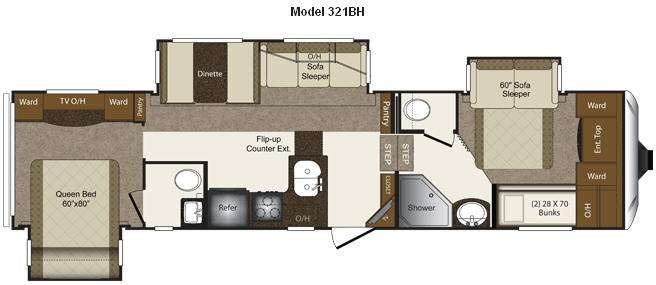 New 2012 keystone rv laredo 321bh fifth wheel at windish for Rv with 2 master bedrooms