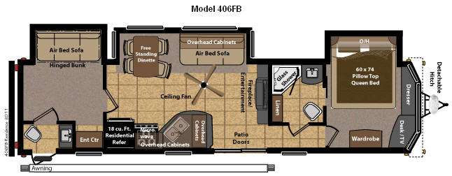 Two Bedroom Travel Trailer | Land Design Reference