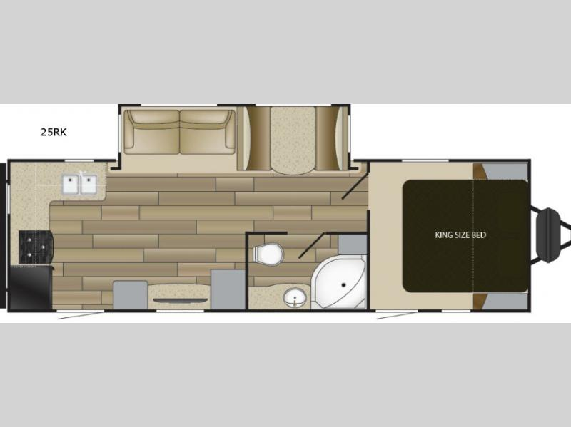 2017 Cruiser Radiance Ultra Lite 25RK If you are looking for a great travel trailer with a rear ki