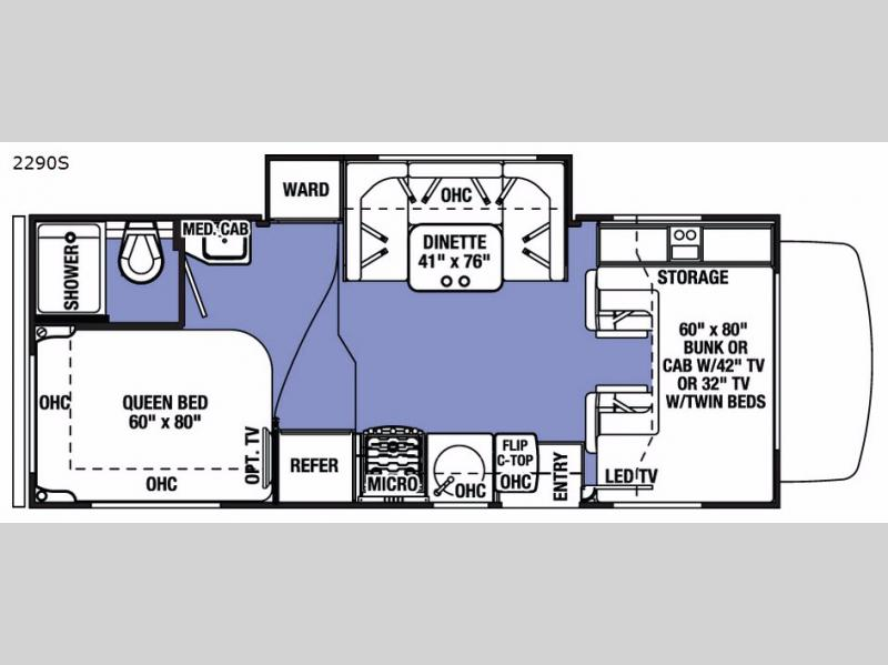 New 2017 Forest River Rv Sunseeker 2290s Chevy Motor Home